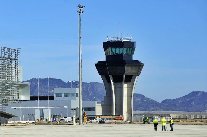 The new control tower under final construction